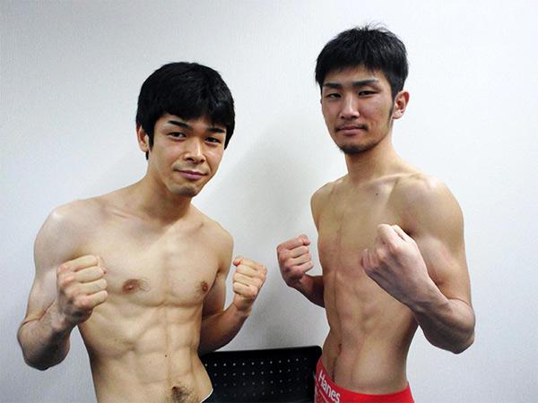 大平剛選手(左)と岩橋裕馬選手(右)