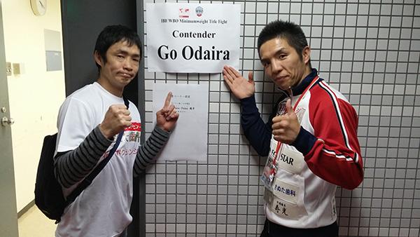 (左)菊井徹平、(右)木村章司トレーナー